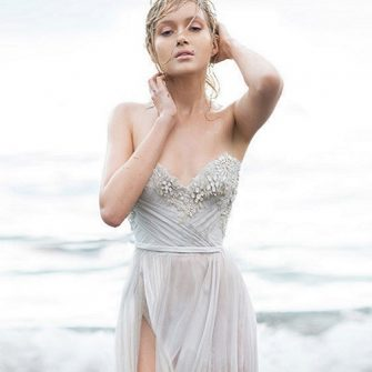 From plunging necklines to backless styles, sexy wedding dresses are in