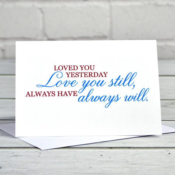 The stages of life and love revealed by your Valentine's Day card