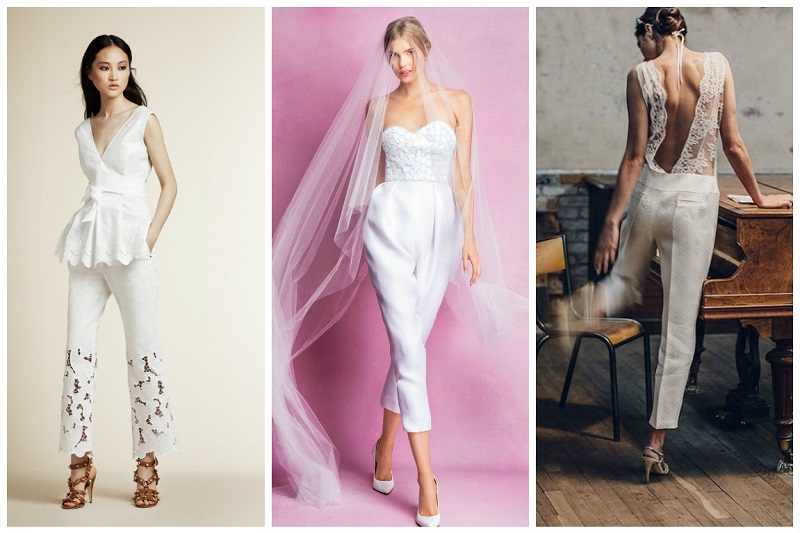 Alberta Ferretti Angel Sanchez Laure de Sagazan - Traditional Wedding Jumpsuits