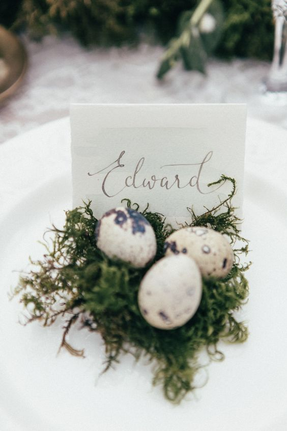 easter wedding ideas - place settings 6