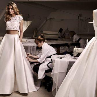 two-piece wedding dress 1