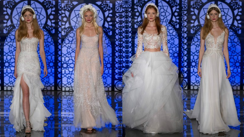 reem acra wedding dress married