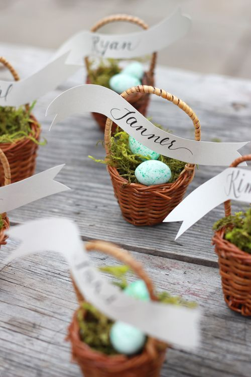 easter wedding ideas - place settings