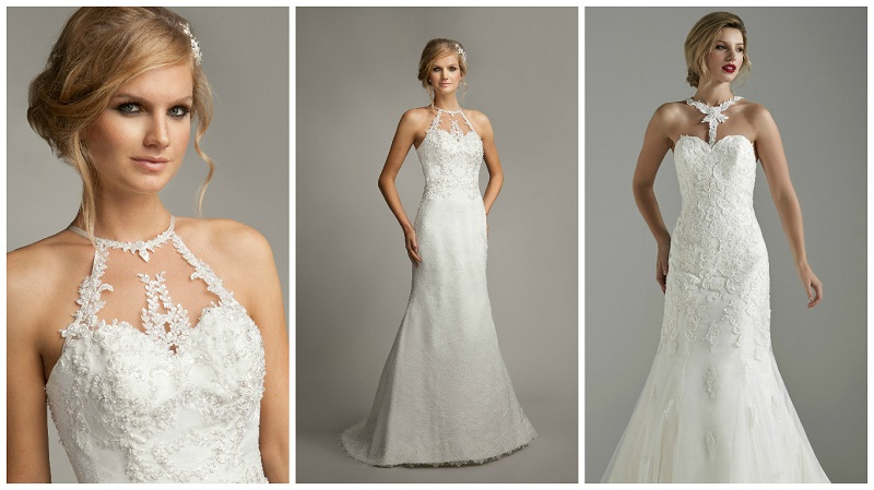 Sweet 16 – the very latest halterneck wedding dresses