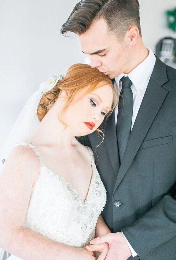 down syndrome model bridal