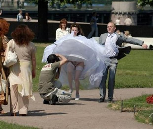 Wedding day fails wardrobe malfucntion