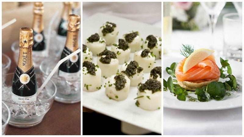 castle wedding styling - food