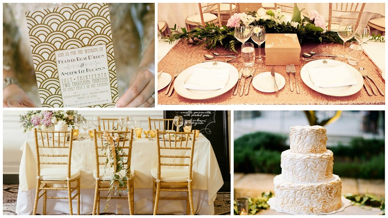 castle wedding styling - gold