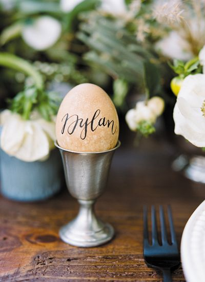 easter wedding ideas - place settings 5