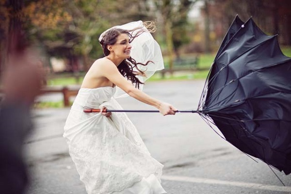 wedding day fails bad weather