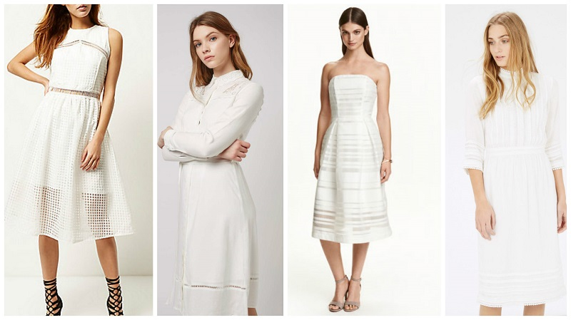 White Dresses 5 80 River Island 58 Top 49 99 H M Warehouse