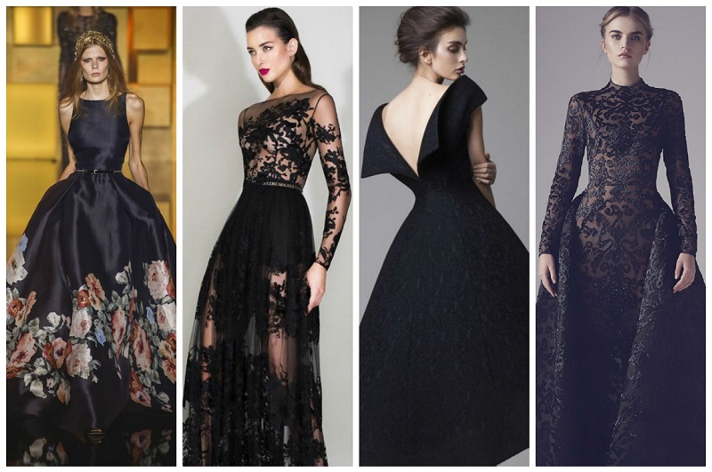 black wedding dresses 6