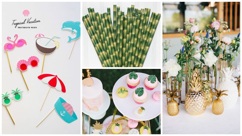 totally tropical wedding decor
