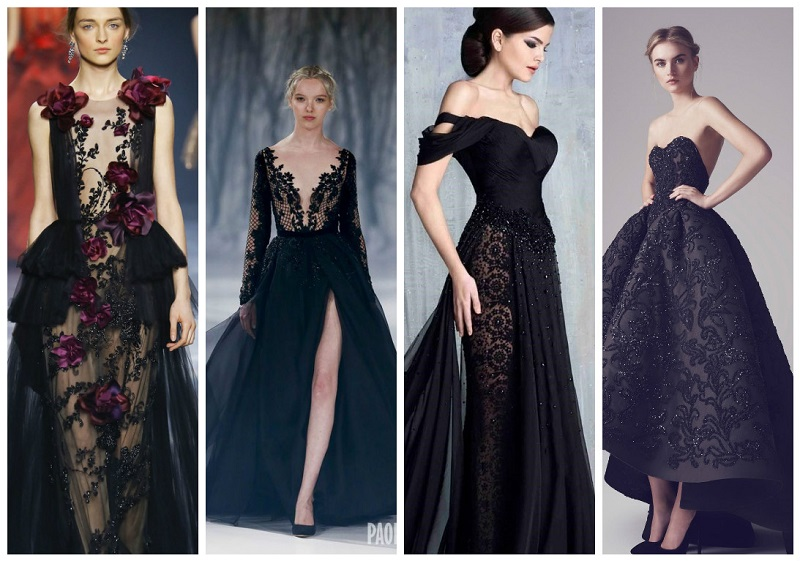 black wedding dresses 4