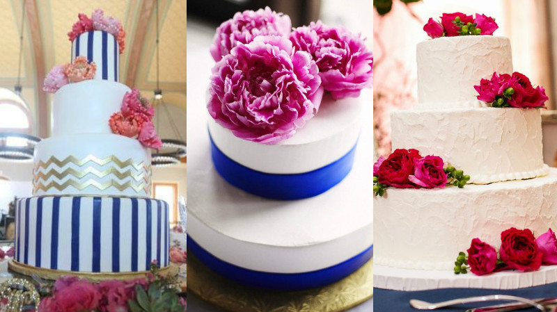 navy and fuschia wedding colour inspiration 5