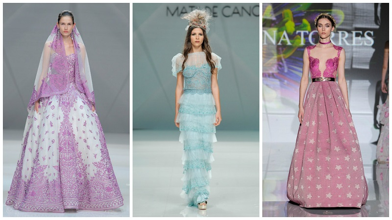 candy colours - barcelona bridal week