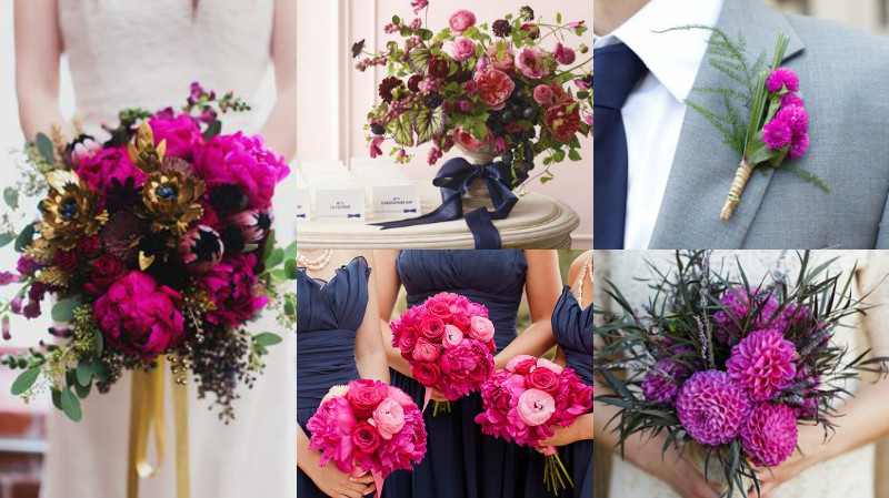 navy and fuschia wedding colour inspiration 2