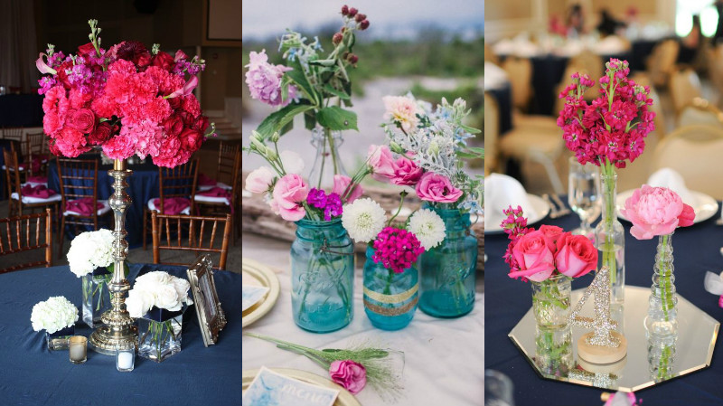 navy and fuschia wedding colour inspiration 4
