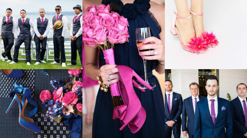 navy and fuschia wedding colour inspiration