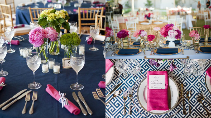 navy and fuschia wedding colour inspiration 3