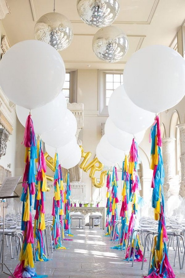 wedding balloon ideas aisle