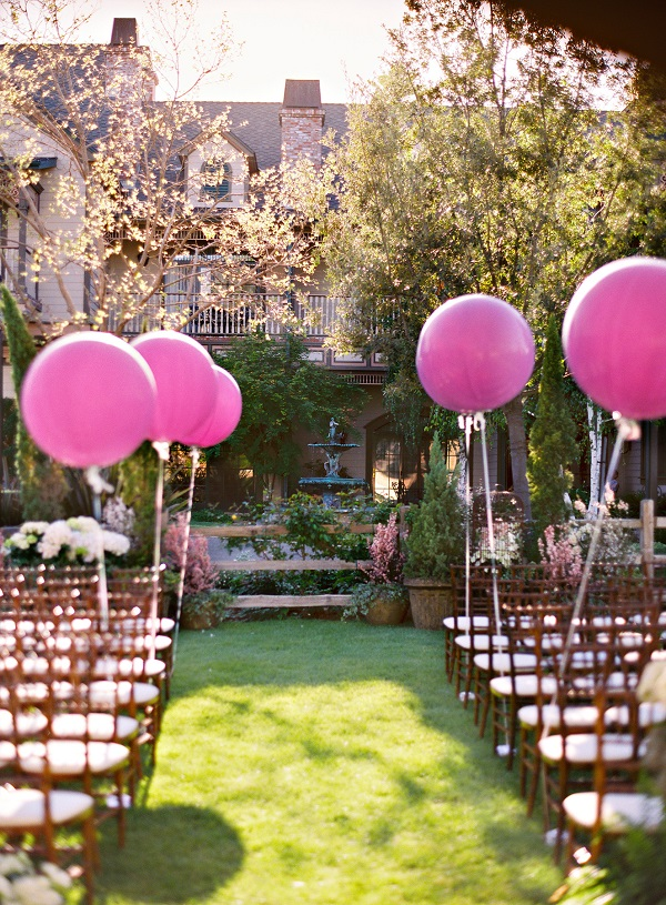 wedding balloon ideas aisle 3