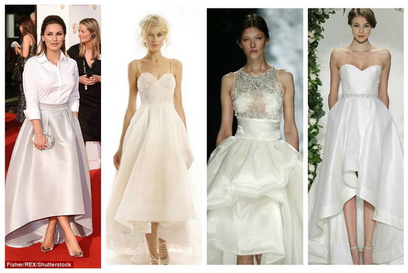 Asymmetrical wedding dresses