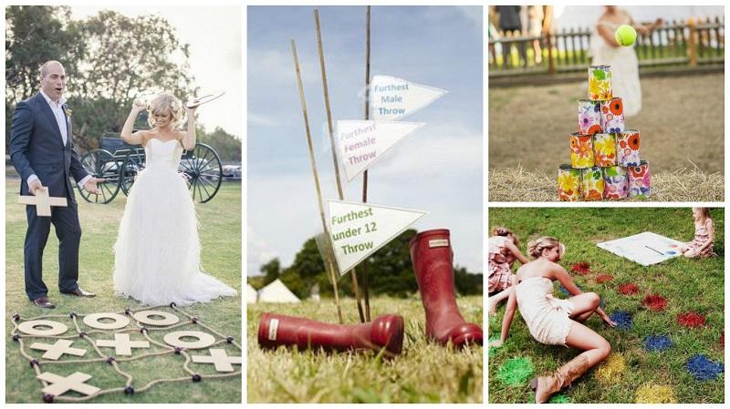 summer wedding ideas - lawn games