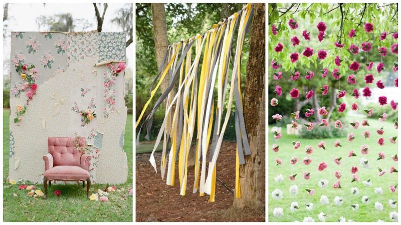 summer wedding ideas - pop-up photo wall