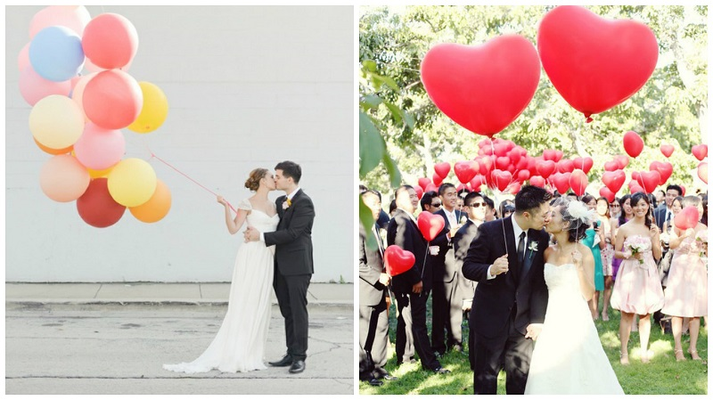 Balloon wedding ideas - pictures