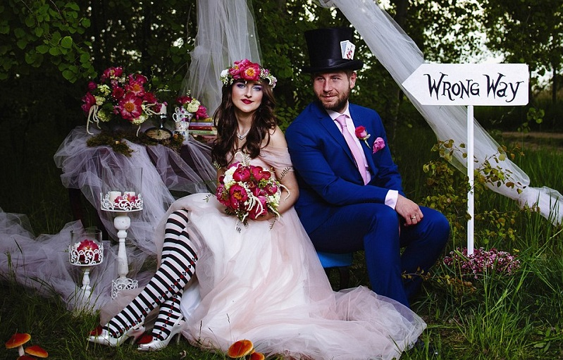 Alice in Wonderland themed wedding 1
