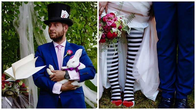 Alice in Wonderland themed wedding 6