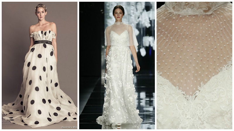 polka dot wedding dress 5