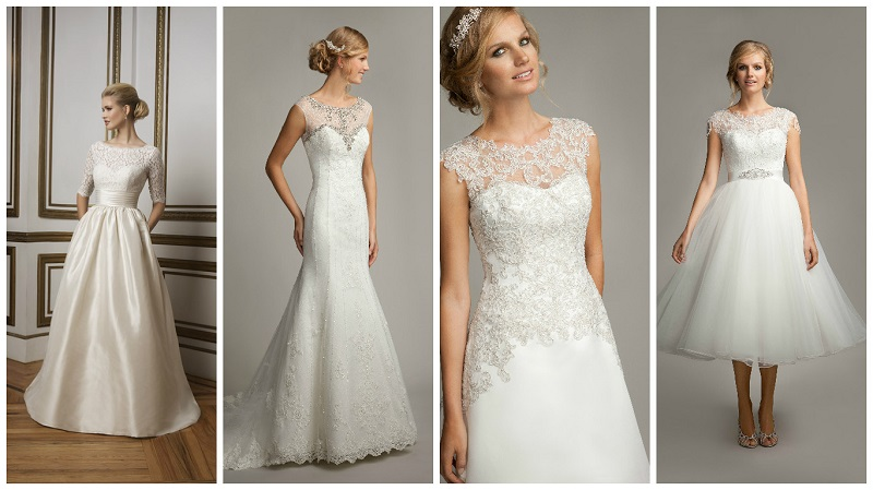 wedding dresses with high necks