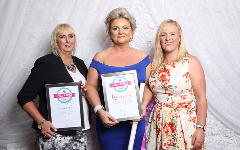 Mother of the Bride Retailer of the Year - McElhinneys, pictured with finalist Bernie O'Neill from Perfect day and Julie Boyde from wedding Journal