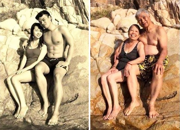 couples recreate photos 2