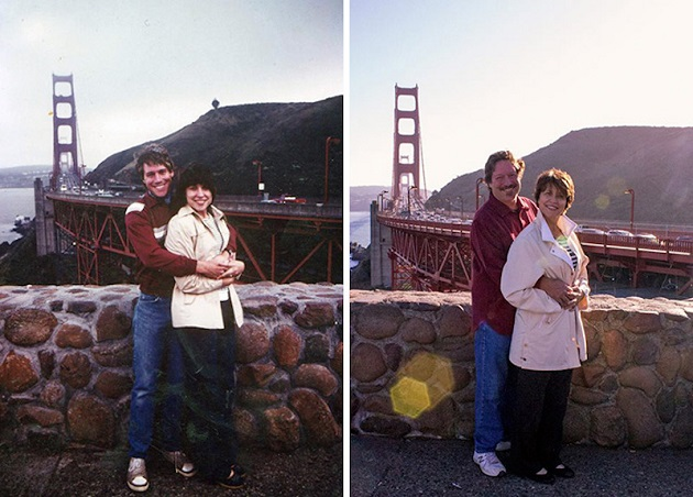 couples recreate photos 9
