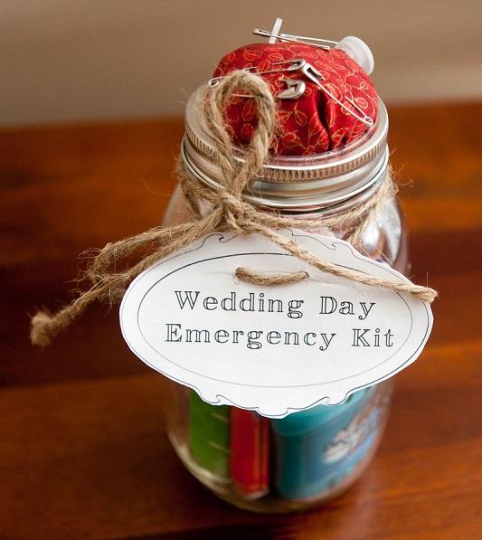 wedding day survival kit
