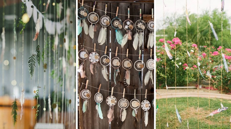feather wedding decoration