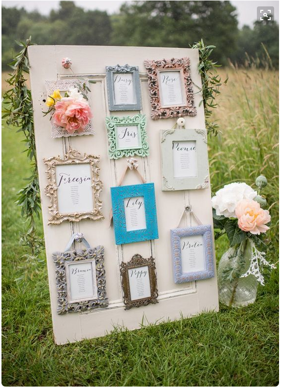 Picture frame table plan, Whimsical Wonderland Weddings