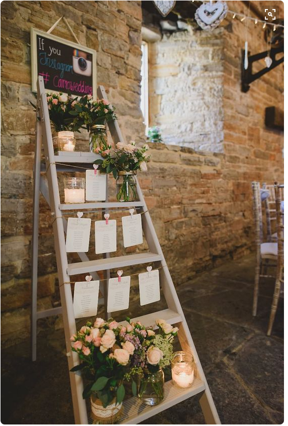 Step ladder table plan via Rock My Wedding on Pinterest