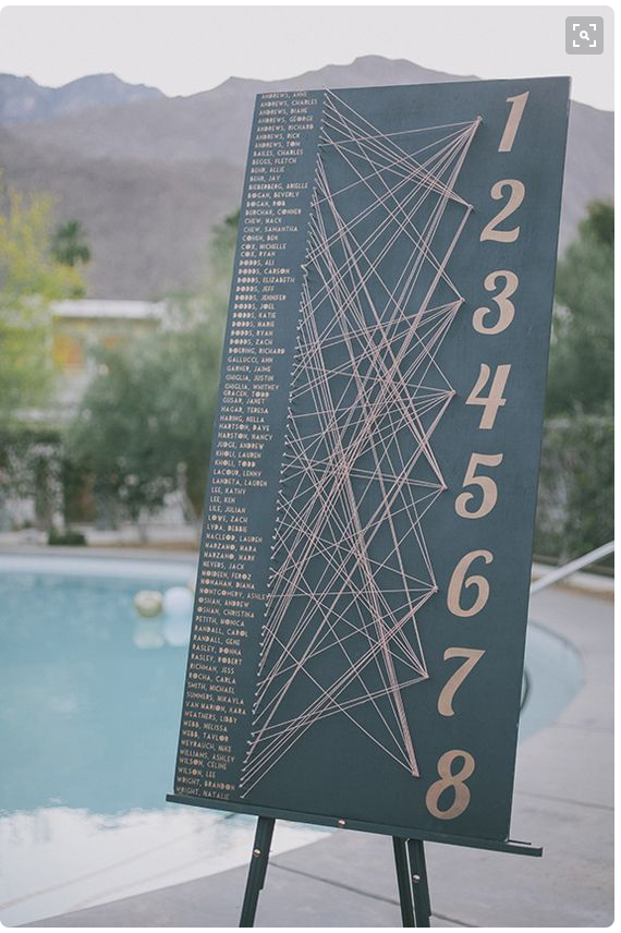 String art table plan, 100 Layer Cake
