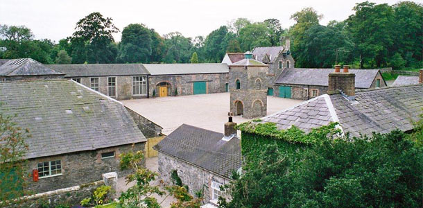 Alternative wedding venue The courtyard at Clandeboye estate