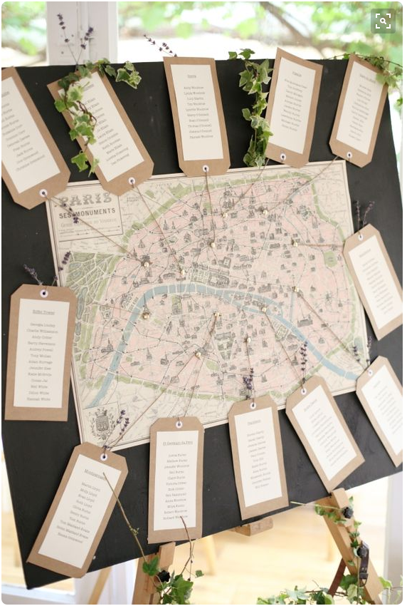 map table plan from Elegant English Countryside Wedding