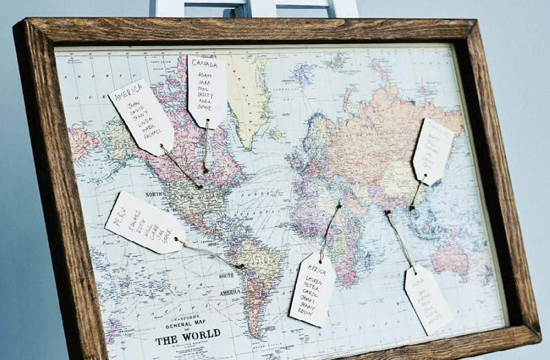 17 creative wedding table plan ideas from pinterest sciox Image collections