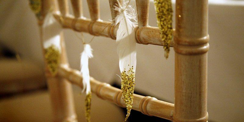 feather wedding decoration 5