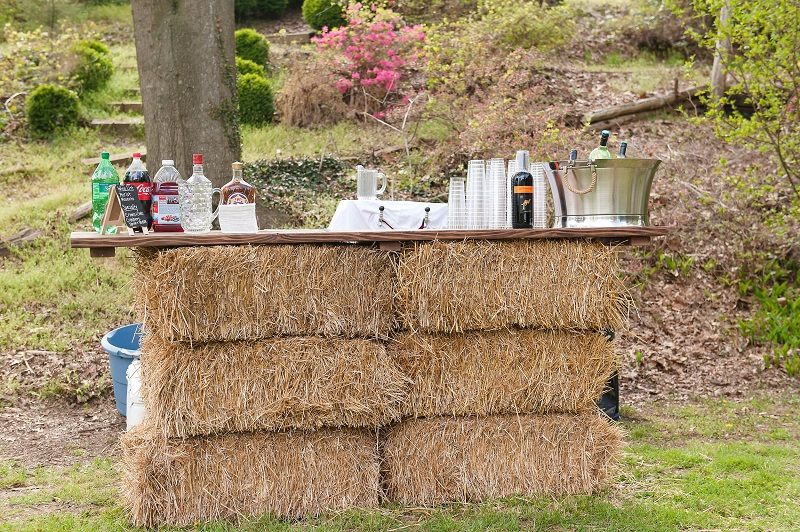 Create a pop up bar with hay bales. ImageTina Jay Photography