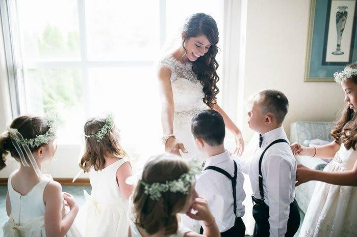 teacher has entire class in bridal party 7