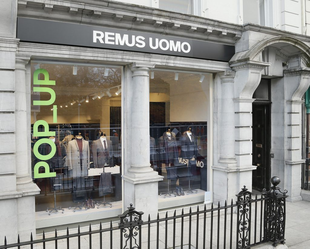 Remus uomo opens first pop up shop in dublin wedding journal leading groomswear brand remus uomo launches standalone shop in dublin city centre despite having four other retail locations across the island of ireland ombrellifo Choice Image