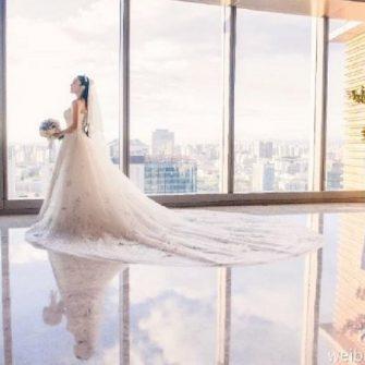 Bride has four wedding dresses